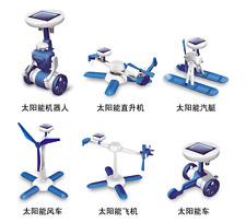 6in1 Solar Toy Educational DIY Robot Plane Children Creative Developmental Toys
