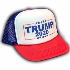 Donald Trump 2020 Pence President Trucker Hat  Snapback MAGA Cap America Stars