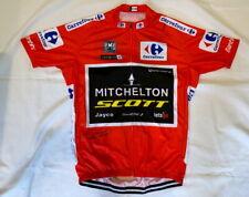 Simon Yates signed 2018 Vuelta a Espana red cycling jersey Mitchelton-Scott