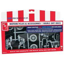 AMT 1/25 Motorcycle Parts Pack Double Dirt Bike Plastic Kit AMTPP014 PP014