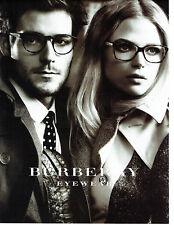 Publicité Advertising 078  2012  les lunettes Burberry