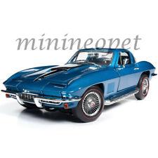 AUTOWORLD AMM1176 1967 CHEVROLET CORVETTE 427 STINGRAY 1/18 METALLIC BLUE