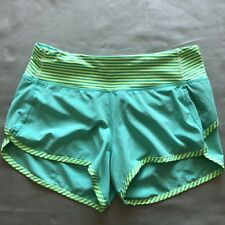 Lululemon Run: Speed Short *4-way Stretch Bali Breeze 1/8 Stripe sz2