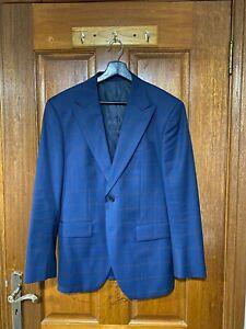 Mens Brent Wilson Single Breasted Windowpane Suit RRP $699