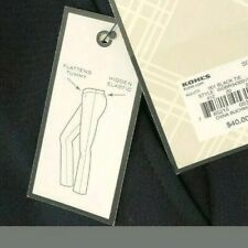 NWT-Dana Buchman Straight Dress Pants, Size 6, Black, Slimming Solution, Stretch