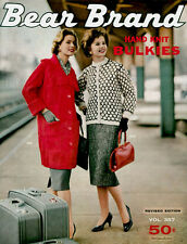 Bear Brand #357 c.1959 - Fifties Era Hand Knitting Patterns - Bulkies for Women