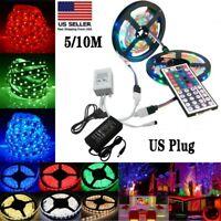 32FT 600 LED Flexible Strip Light SMD 3528 RGB Fairy Lights Room TV Party Bar US