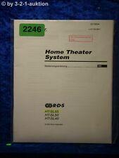 Sony Bedienungsanleitung HT SL55 /SL50 /SL40 Home Theater System (#2246)