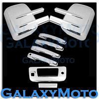 07-13 Silverado+Sierra Chrome Towing Mirror+4 Door Handle+Tailgate+Camera Cover