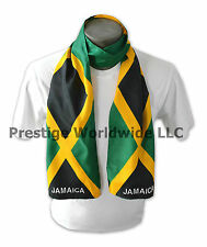 Jamaican Flag Print Scarf *NEW* One-Size-Fits-All Bob Marley Reggae *FREE S/H*