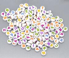 500 Mixed A-Z Alphabet Coin Spacer Beads 7mm  - UK Seller