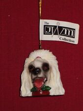 White Poodle Dog Head Christmas Ornament from the Jwm Collections Retired