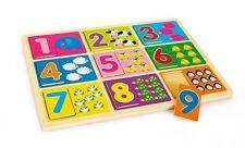 """Puzzle a incastro in legno """"Impara a contare"""", cm 30x22,5"""