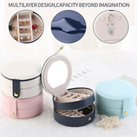 Mini Travel Jewelry Organizer Box Holder  Earring Ring Portable Case