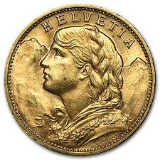 1897-1949 Swiss Gold 20 Francs Helvetia BU - SKU #38659
