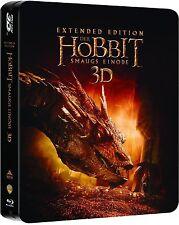 DER HOBBIT: SMAUG'S EINÖDE, Extended Edition (Blu-ray 3D, 5 Discs) Steelbook NEU