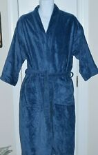 Genuine Turkish Towel T J Lawford BLUE 100% Cotton Terry Robe ONE SIZE