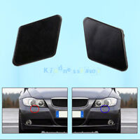 Front LH+RH Bumper Headlight Washer Jet Nozzle Cover Cap For BMW 3 E90 E91