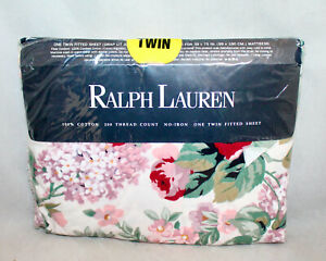 New RALPH LAUREN HOME COLLECTION Allison Multicolor Floral Twin Fitted Sheet