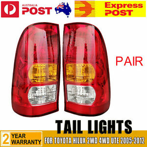 For Toyota Hilux 2WD 4WD Ute 2005-2012 A Pair of LH+RH Tail Light Rear Lamp NEW
