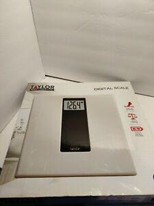 Digital Bathroom Scale White/Black - Taylor