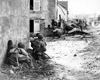 WW2 Photo WWII US Army Troops Under Fire Brest France World War Two   / 1224