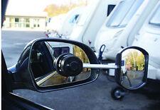 Nuevo Caravan & Trailer Remolque De Seguridad Vidrio Convexo vista ala Espejo Extensiones