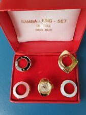 Ring-uhren Sammlung, Swiss mechanische uhrwerk, Handzug, Vergoldet, Modisch