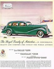 1935 BIG Vintage Cadillac Fleetwood V-12 Touring Sedan Car Auto Art Print Ad