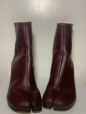 Rare Burgundy Maison Margiela Tabi Split Toe Boot Womens 7 great condition