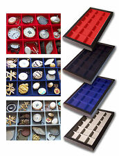 1 Glass Display Case Blue 18 Division Badges Boy Scouts Girl Guides Police Fire