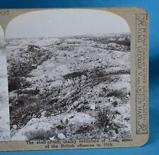 WW1 Stereoview Shell Pitted Chalky Battlefield Of Loos Realistic Travels