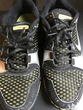 Used Nike Air Livestrong men's size 10 running black yellow
