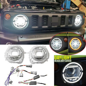 Kit For Suzuki Jimny 2019-2020 Replacement Front Headlight Lamps Car Accessories