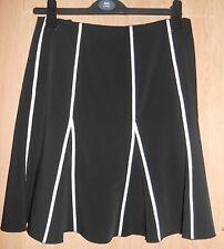 Just B noir & rose pâle à rayures Motif Kick Pleat Jupe Taille M