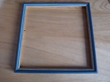 "Blue/Grey Photo frame with gold sight edge for  8"" square photo"