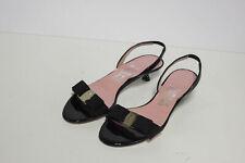 Ferragamo US 7 B Black Womans Kitten Heels
