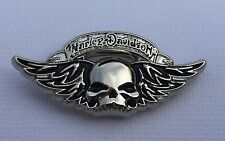 Metal Pin Badge USA Biker Sportster FatBoy Cruiser Bobber Chopper - Winged Skull