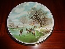 English Fine China Large Collectors Plate LANDSCAPE IN WINTER #4