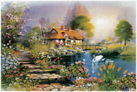 New Nice Farmhouse Educational 1000 Piece Jigsaw Puzzles Adults Kids Puzzle Toy