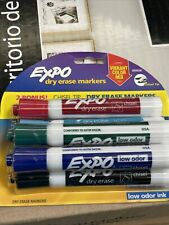 New 6 Expo Dry Erase Chisel Tip Markers Low Odor Ink Assorted Colors 2059239