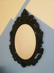 fantasy home décor wall mirror - dark brown/black semi-gloss