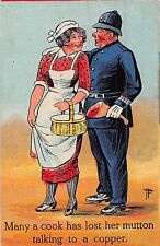 POSTCARD  COMIC    POLICE   Cook  Related....