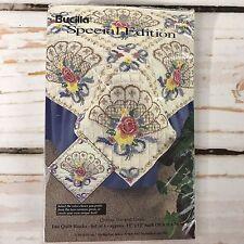 Bucilla Fan Quilt Blocks Stamped Cross Stitch Set of 6 Special Edition 64515
