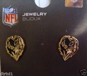 Baltimore Ravens Head Post Earrings