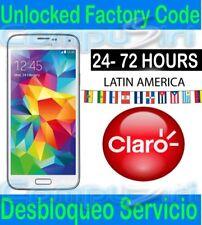 Unlock Service CLARO Puerto Rico Samsung Galaxy S8 S7 S6 S5 S4 Note 8