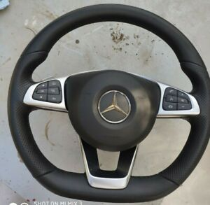 NEW GENUINE MERCEDES BENZ W205,w213,w253  COMPLETE STEERING WHEEL WHITH AIRBAG