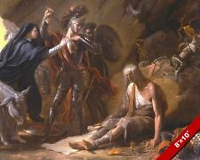 THE FAIRY QUEEN CAVE OF DESPAIR 1500'S EPIC POEM PAINTING ART REAL CANVAS PRINT