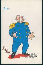 THE KING Cinderella c1950 original vintage postcard Tobler Wald Disney