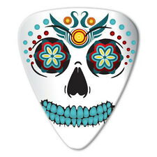 5 x Sugar Skull White Guitar Picks *NEW* Grover Allman Bag of 5, 0.8mm gauge